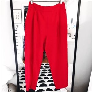 Asos NWT red tailored high waisted trousers pants